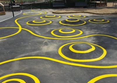 Dekorativa markeringar - Skolgård 2